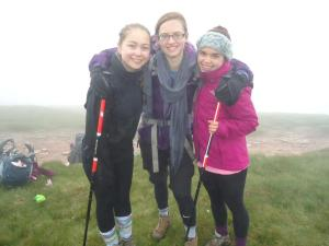 ACS Cobham students on their group expedition to the Brecon Beacons as part of their Duke of Edinburgh award.